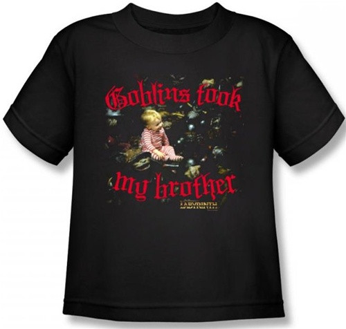Image for Labyrinth Kids T-Shirt - Goblins Took My Brother
