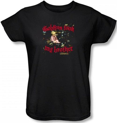Image for Labyrinth Womens T-Shirt - Goblins Took My Brother