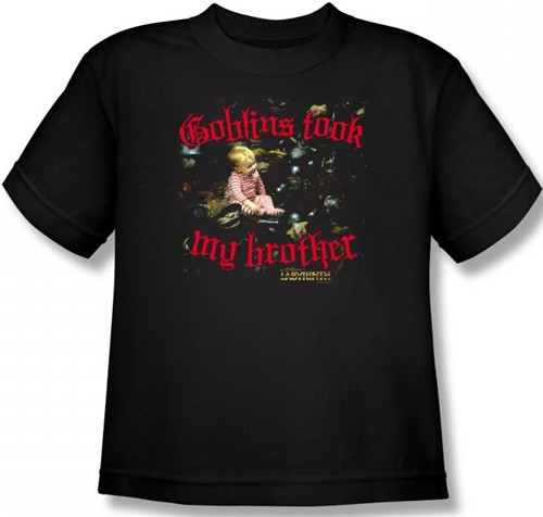Image for Labyrinth Youth T-Shirt - Goblins Took My Brother