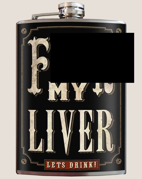 Image for Trixie & Milo F*** My Liver Hip Flask