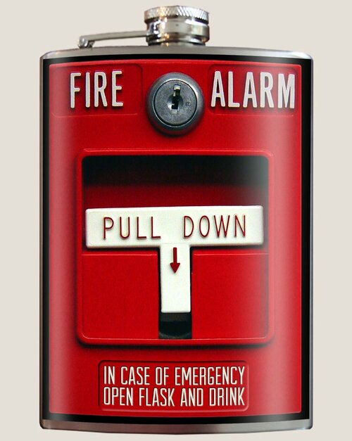 Image for Trixie & Milo Fire Alarm Hip Flask