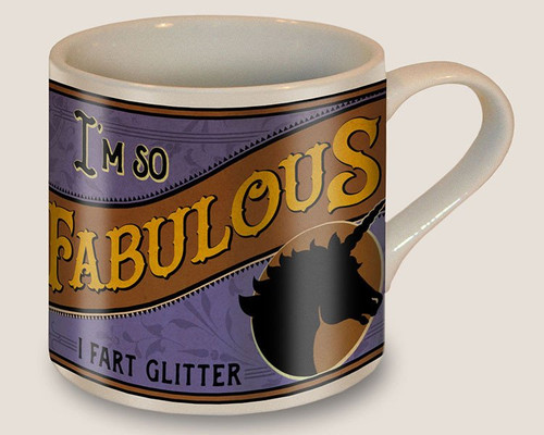 Image for I'm So Fabulous I Fart Glitter Coffee Mug
