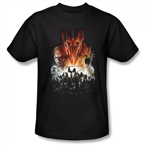Image Closeup for Lord of the Rings Evil Rising T-Shirt