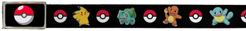 Image for Pokemon Belt With Logo Buckle - Pkiachu Balbasaur Charmander Squirtle