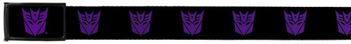 Image for Transformers Belt With Logo Buckle - Decepticon Logo