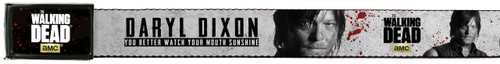Image for The Walking Dead Belt With Logo Buckle - Daryl Dixon You Better Watch Your Mouth Sunshine