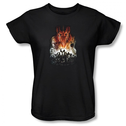 Image for Lord of the Rings Woman's T-Shirt - Evil Rising