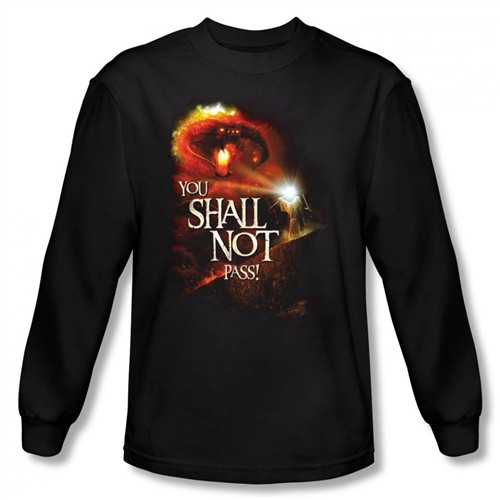 Image for Lord of the Rings You Shall Not Pass Long Sleeve T-Shirt