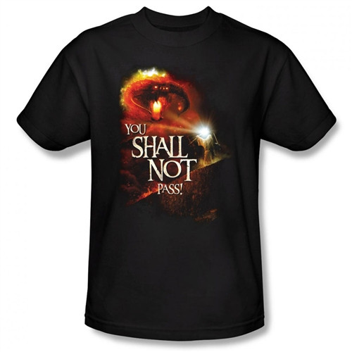Image Closeup for Lord of the Rings You Shall Not Pass T-Shirt
