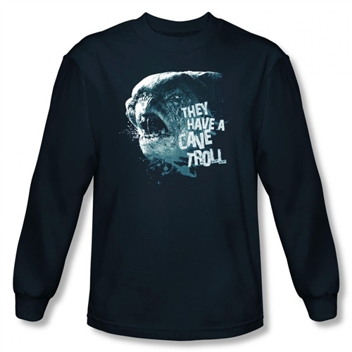 Image for Lord of the Rings They Have a Cave Troll Long Sleeve T-Shirt