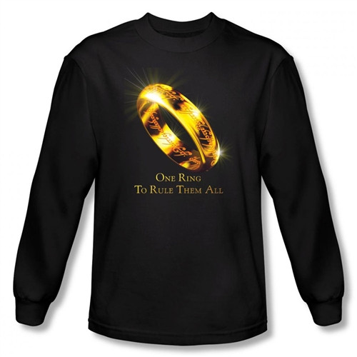 Image for Lord of the Rings One Ring to Rule Them All Long Sleeve T-Shirt