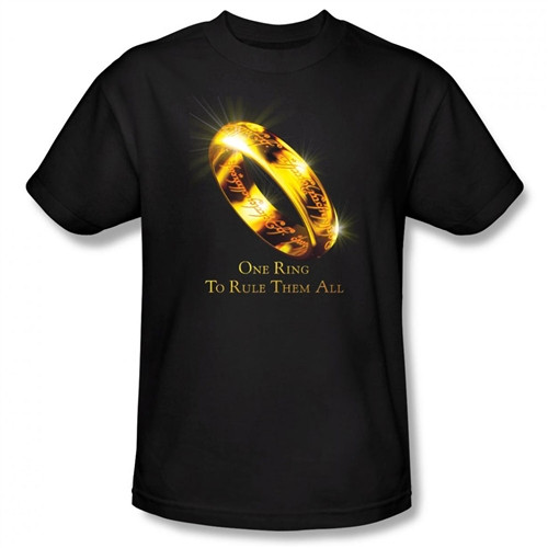 Image Closeup for Lord of the Rings One Ring to Rule Them All T-Shirt