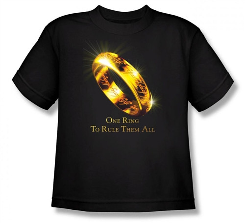 Image for Lord of the Rings Youth T-Shirt -One Ring to Rule Them All