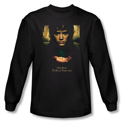 Image for Lord of the Rings Frodo One Ring to Rule Them All Long Sleeve T-Shirt