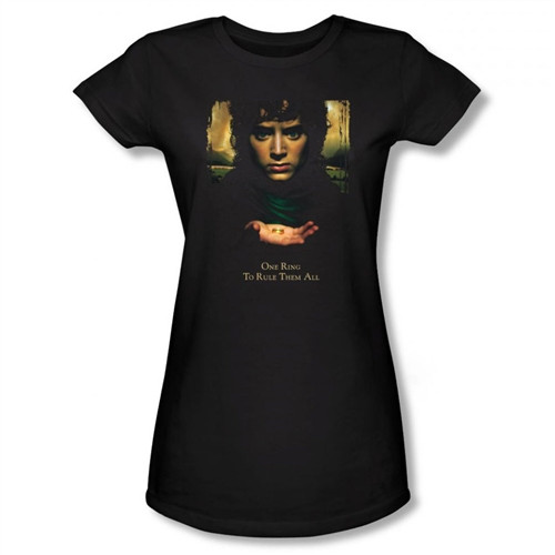Image for Lord Girls T-Shirt - Frodo One Ringsto Rule Them All