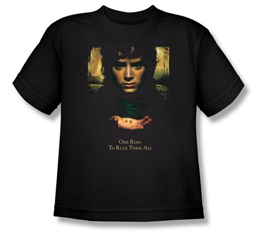 Image for Lord of the Rings Youth T-Shirt -Frodo One Ring to Rule Them All