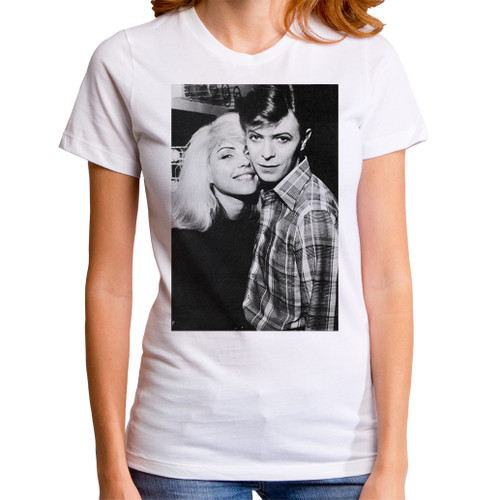 Image for David Bowie Girls T-Shirt - with Debbie Harry
