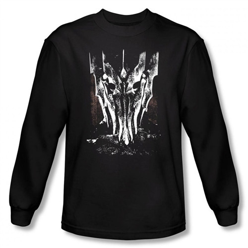 Image for Lord of the Rings Big Sauron Head Long Sleeve T-Shirt
