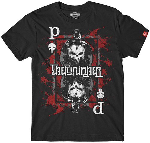 Image for The Punisher Playing Card Ambigram T-Shirt