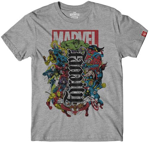 Image for Marvel Family Forever Ambigram T-Shirt