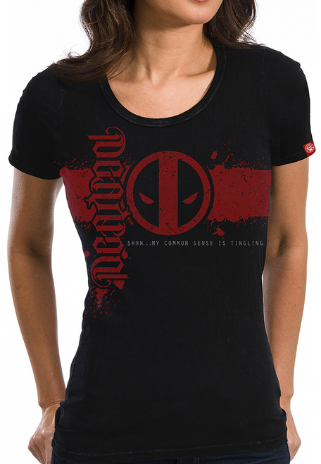 Image for Deadpool Juniors T-Shirt - Icon Ambigram