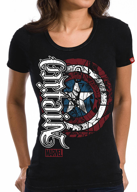 Image for Captain America Juniors T-Shirt - Ambigram