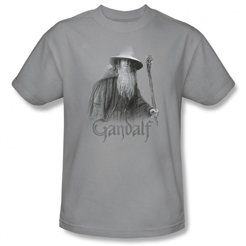 Image Closeup for Lord of the Rings Gandalf the Grey T-Shirt