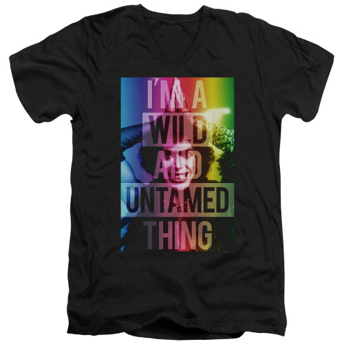 Image for Rocky Horror Picture Show V Neck T-Shirt - I'm a Wild and Untamed Thing