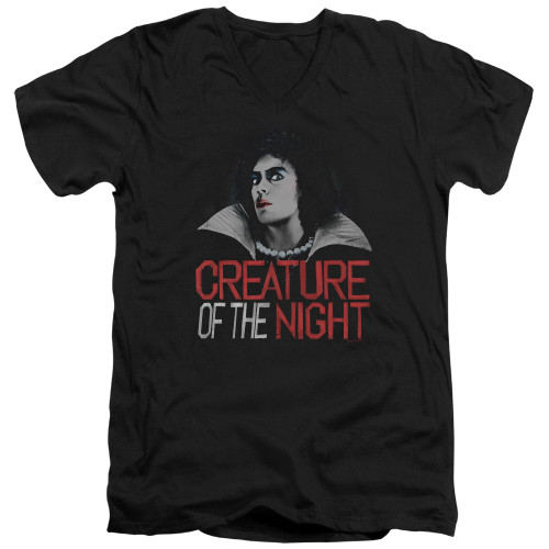 Image for Rocky Horror Picture Show V Neck T-Shirt - Creature of the Night