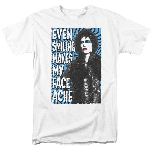 Image for Rocky Horror Picture Show T-Shirt - Even Smiling Makes My Face Ache