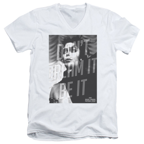 Image for Rocky Horror Picture Show V Neck T-Shirt - Don't Dream It Be It