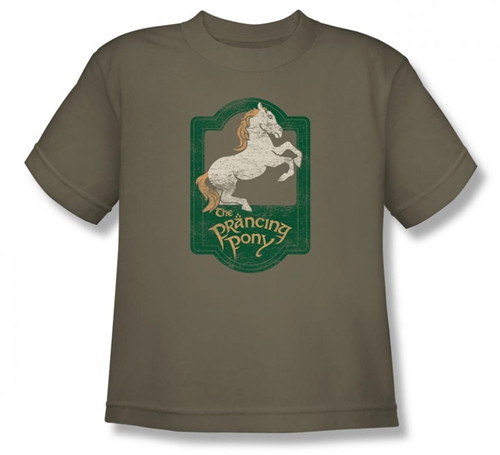 Image for Lord of the Rings Youth T-Shirt -the Prancing Pony Sign