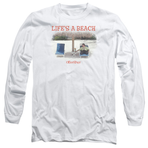 Image for Office Space Long Sleeve Shirt - Life's a Beach