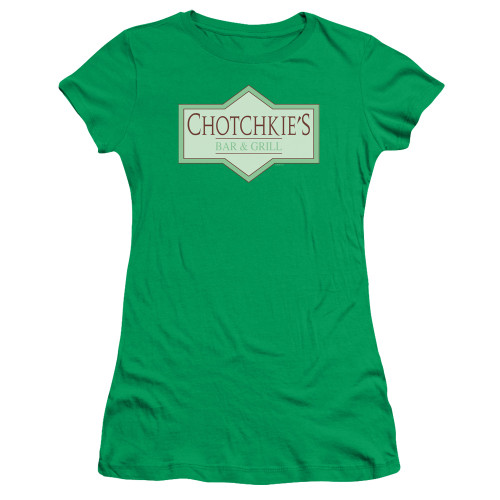 Image for Office Space Girls T-Shirt - Chotckie's Bar & Grill Logo