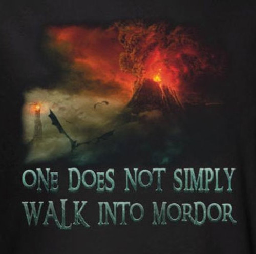 Image for Lord of the Rings Walk into Mordor T-Shirt