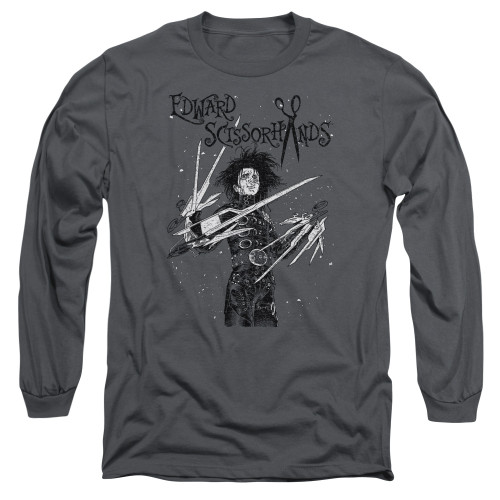 Image for Edward Scissorhands Long Sleeve Shirt - Snowy Night