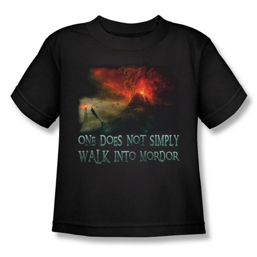 Image for Lord of the Rings Kids T-Shirt - Walk into Mordor