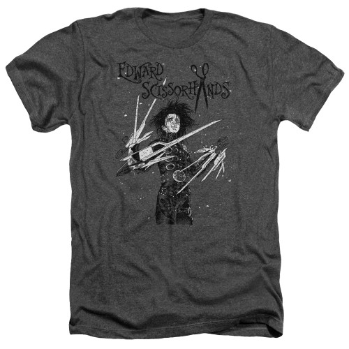 Image for Edward Scissorhands Heather T-Shirt - Snowy Night