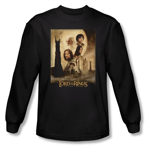 Image for Lord of the Rings Two Towers Poster Long Sleeve T-Shirt
