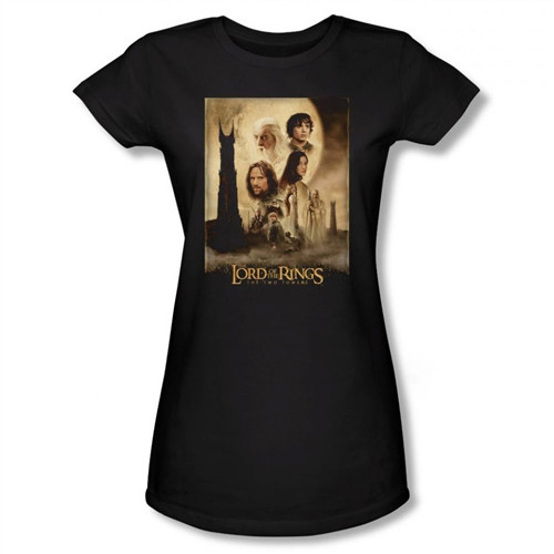 Image for Lord of the Rings Girls T-Shirt - Two Towers Poster