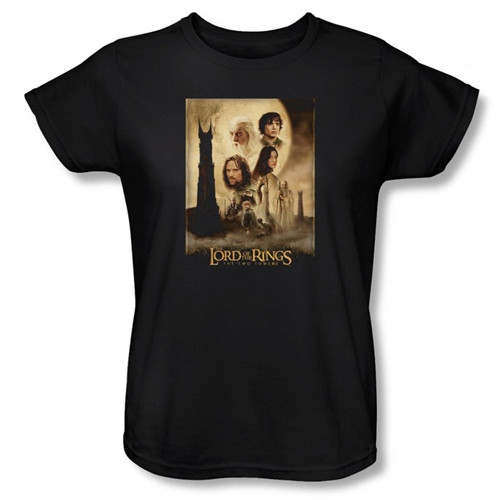 Image for Lord of the Rings Woman's T-Shirt - Two Towers Poster
