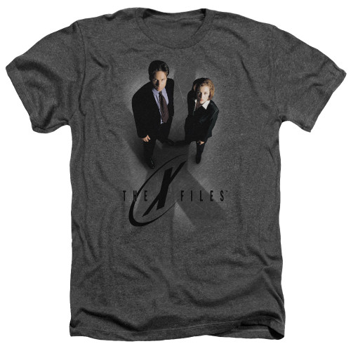 Image for The X-Files Heather T-Shirt - X Marks the Spot