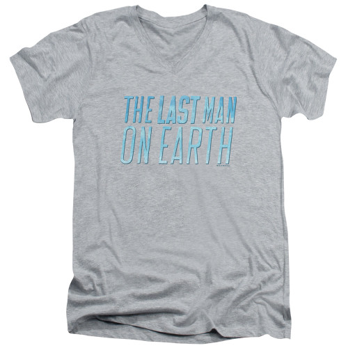 Image for Last Man on Earth V Neck T-Shirt - Logo