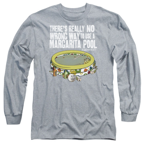 Image for Last Man on Earth Long Sleeve Shirt - There's No Wrong Way to Use a Margarita Pool