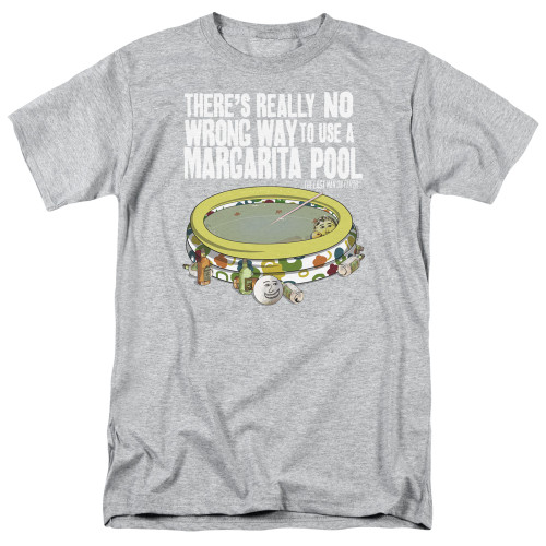 Image for Last Man on Earth T-Shirt - There's No Wrong Way to Use a Margarita Pool