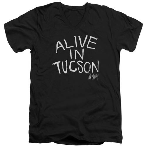 Image for Last Man on Earth V Neck T-Shirt - Alive in Tucson