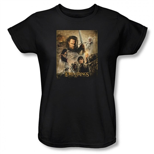 Image for Lord of the Rings Woman's T-Shirt - Return of the King Poster