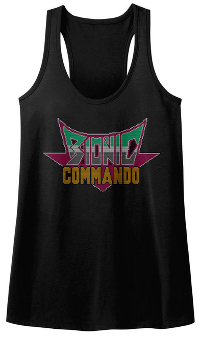 Image for Bionic Commando Juniors Tank Top - Pixel Logo