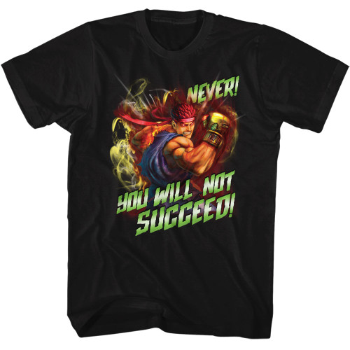 Image for Street Fighter Never Succeed T-Shirt