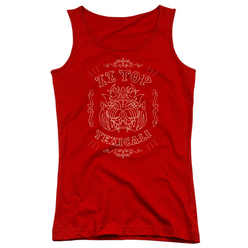 Image for ZZ Top Girls Tank Top - Texicali Demon